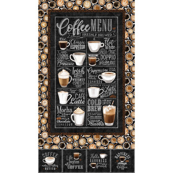 Cafe Culture 24484-99 Panel by Northcott Fabrics