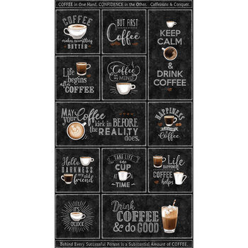 Cafe Culture 24485-99 Panel by Northcott Fabrics