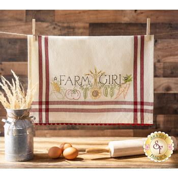 Bareroots Embroidery Towel Kit - Farm Girl