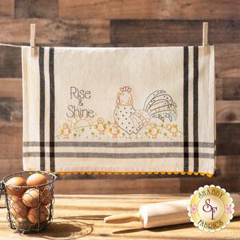 Bareroots Embroidery Towel Kit - Rise & Shine