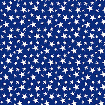 My Happy Place 6041-71 Blue Tossed Little Stars by Sharla Fults for Studio E Fabrics