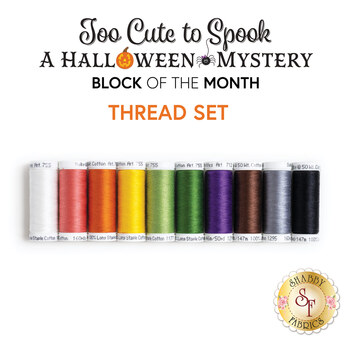 Too Cute To Spook - A Halloween Mystery BOM - 10pc Applique Thread Set - RESERVE