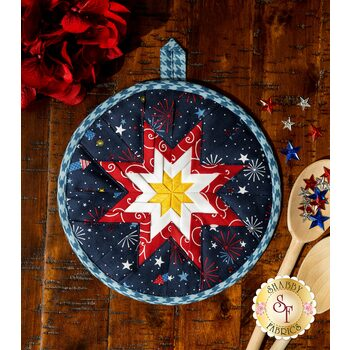 Folded Star Hot Pad Kit - Red, White, & Bloom