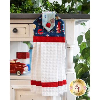 Hanging Towel Kit - Red, White, & Bloom - Blue