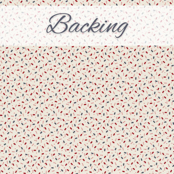 Patriotic Star Quilt Kit - American Gathering - Backing - 3-3/4 yds