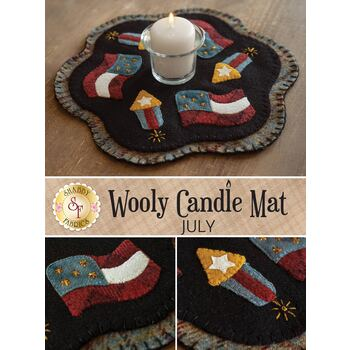 Wooly Candle Mat - July - Wool Kit