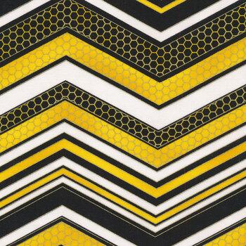 Buzzworthy 9976M-12 Black/Gold by Kanvas Studios