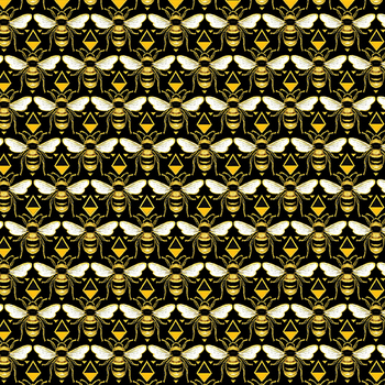 Buzzworthy 9972M-12 Black/Gold by Kanvas Studios