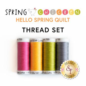 Hello Spring Quilt Kit - Spring Chicken - 4pc Thread Set