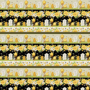 Bee You! 108-49 Multi by Shelly Comiskey for Henry Glass Fabrics
