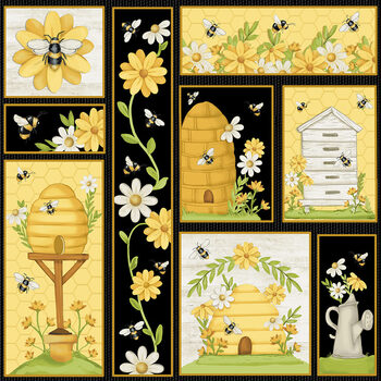 Bee You! 106-49 Multi by Shelly Comiskey for Henry Glass Fabrics