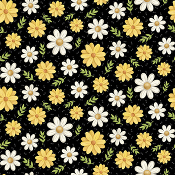 Bee You! 105-99 Black by Shelly Comiskey for Henry Glass Fabrics