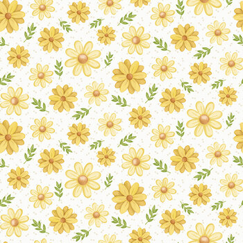 Bee You! 105-44 Cream by Shelly Comiskey for Henry Glass Fabrics