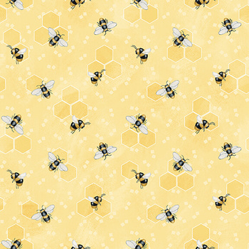 Bee You! 103-44 Yellow by Shelly Comiskey for Henry Glass Fabrics