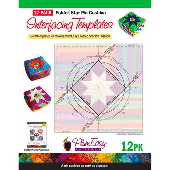 Folded Star Pin Cushion Interfacing Template - 12pk