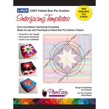 Folded Star Pin Cushion Interfacing Template - 3pk