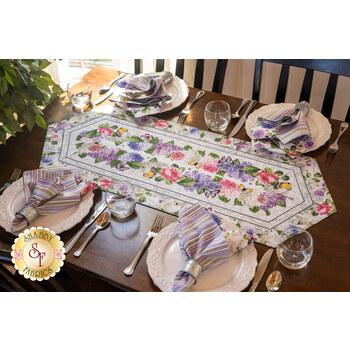 Easy Striped Table Runner Kit - Scented Garden