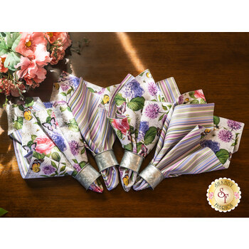 Cloth Napkins Kit - Scented Garden - Makes 4