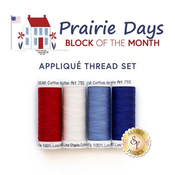 Prairie Days BOM - 4pc Applique Thread Set - RESERVE