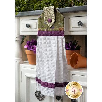 Hanging Towel Kit - Violet Hill - Green Garden