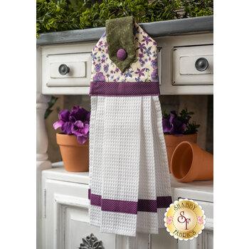 Hanging Towel Kit - Violet Hill - Cream Flower