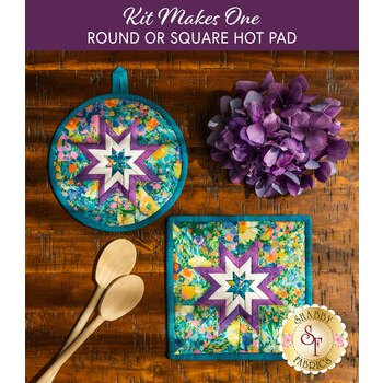 Folded Star Hot Pad Kit - Painterly Petals - Round OR Square