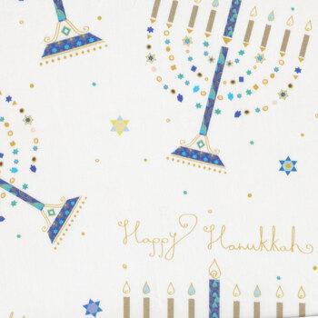 Hanukkah Greetings 28357-Z White by Quilting Treasures