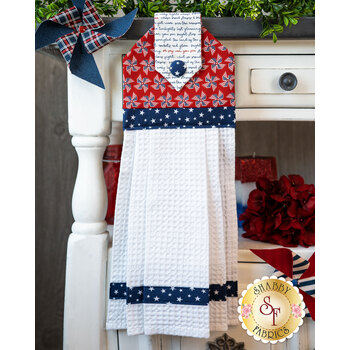 Hanging Towel Kit - Land of Liberty - Red