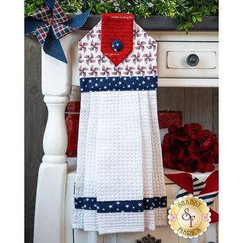 Hanging Towel Kit - Land of Liberty - White