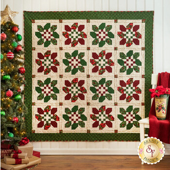 Christmas Wreaths Quilt Kit - Old Time Christmas - RESERVE