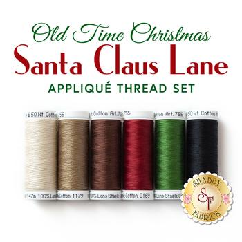 Santa Claus Lane Wall Hanging - Old Time Christmas - 6pc Thread Set