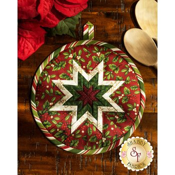 Folded Star Hot Pad Kit - Old Time Christmas - Red