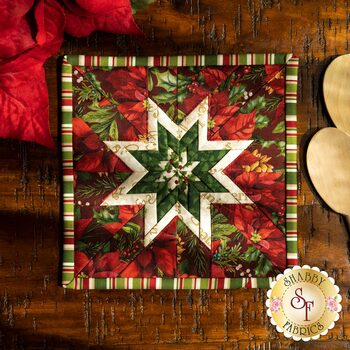 Folded Star Squared Hot Pad Kit - Old Time Christmas - Red