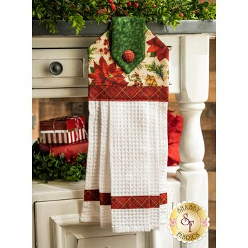 Hanging Towel Kit - Old Time Christmas - Cream Poinsettia