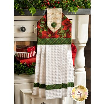 Hanging Towel Kit - Old Time Christmas - Red