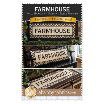 Farmhouse Wall Hanging, Pillow, or Table Runner Pattern