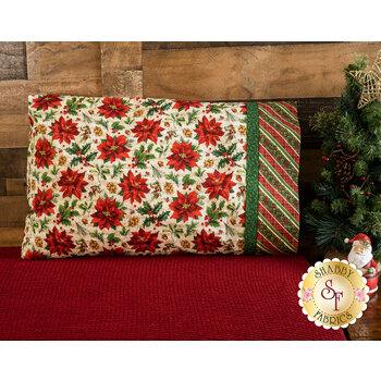 Magic Pillowcase Kit - Old Time Christmas - Cream Poinsettia