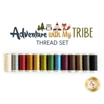 Adventure With My Tribe Quilt Kit - 13pc Applique Thread Set - RESERVE