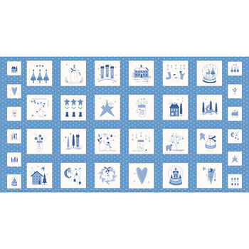 Crystal Lane 2980-12 Panel French Blue by Bunny Hill Designs for Moda Fabrics