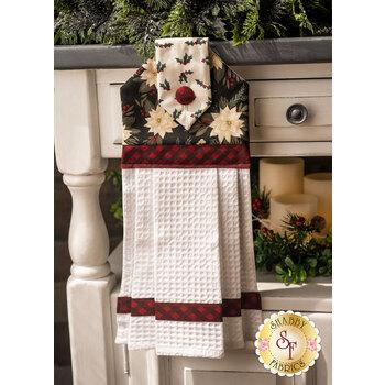 Hanging Towel Kit - Farmhouse Christmas - Black