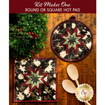 Folded Star Hot Pad Kit - Farmhouse Christmas - Round OR Square