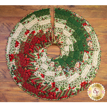 Quilt As You Go Bargello Tree Skirt Kit - Old Time Christmas - RESERVE