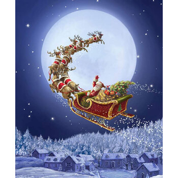 Christmastime is Here P10740-GOODNIGHT To All A Good Night Panel by Riley Blake Designs