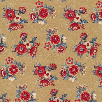 Blue Meadow 0782-0140 Blue Bouquets by Marcus Fabrics REM