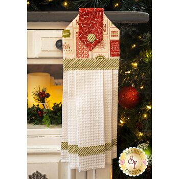 Hanging Towel Kit - The Christmas Card - Cream