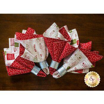 Cloth Napkins Kit - The Christmas Card - Makes 4