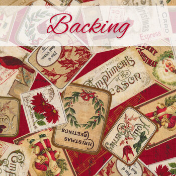 Postcard Holiday Quilt - Backing - 3-3/4 yds