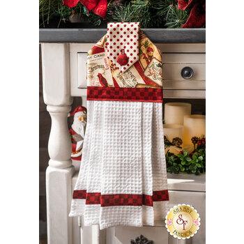Hanging Towel Kit - Postcard Holiday - Red
