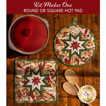 Folded Star Hot Pad Kit - Postcard Holiday - Round OR Square