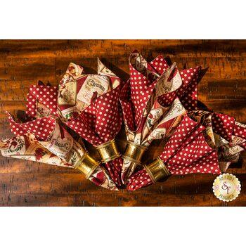 Cloth Napkins Kit - Postcard Holiday - Makes 4